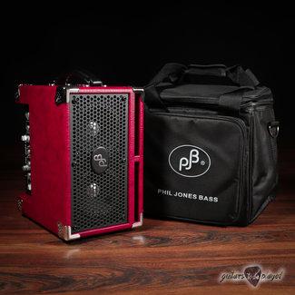 "Phil Jones Phil Jones Bass BG-120 Bass Cub Pro 2x5"" 120W Combo Amp w/ Carry Bag – Red"