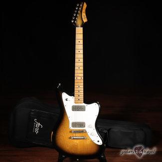 Fano Fano JM6 Oltre Maple Fretboard P-90 Electric Guitar w/ Gigbag – 2-Tone Sunburst