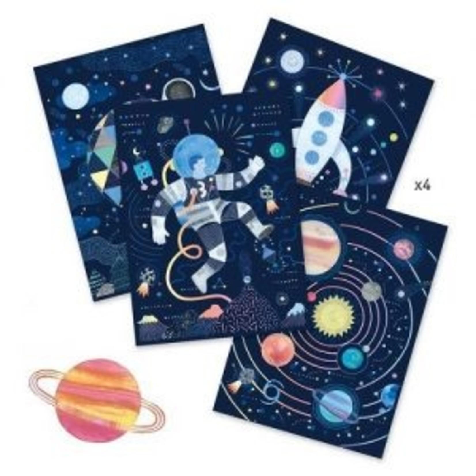 Djeco Cartes à gratter - Mission cosmique