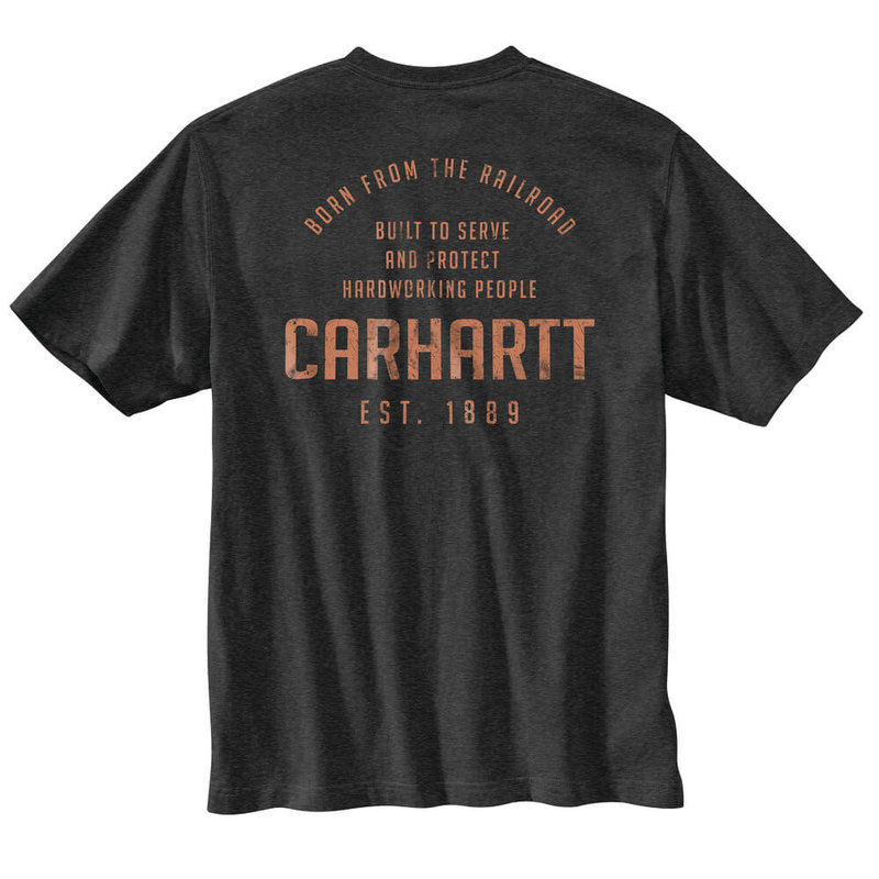 Carhartt 104608 - Loose Fit Heavyweight Short-Sleeve Pocket Railroad T-Shirt