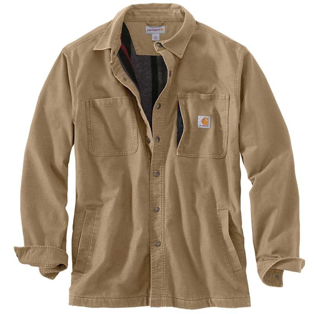 Carhartt 102851 - Rugged Flex Relaxed Fit Canvas Lined Snap Shirt Jac