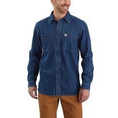 Carhartt 104145 - Loose Fit Heavyweight Denim Long-Sleeve Shirt