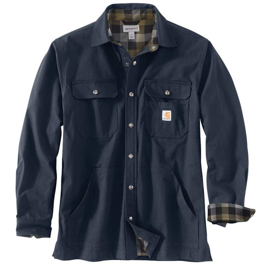 Carhartt 104146 - Loose Fit Ripstop Flannel Lined Snap Shirt Jac