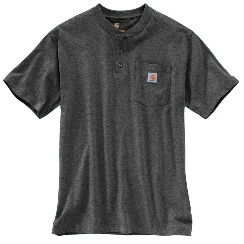Carhartt K84 - Loose Fit Heavyweight Short-Sleeve Pocket Henley T-Shirt