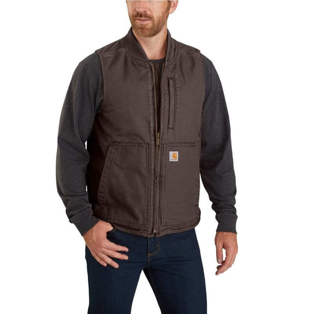 Carhartt 104395 - Loose Fit Washed Duck Insulated Rib Collar Vest