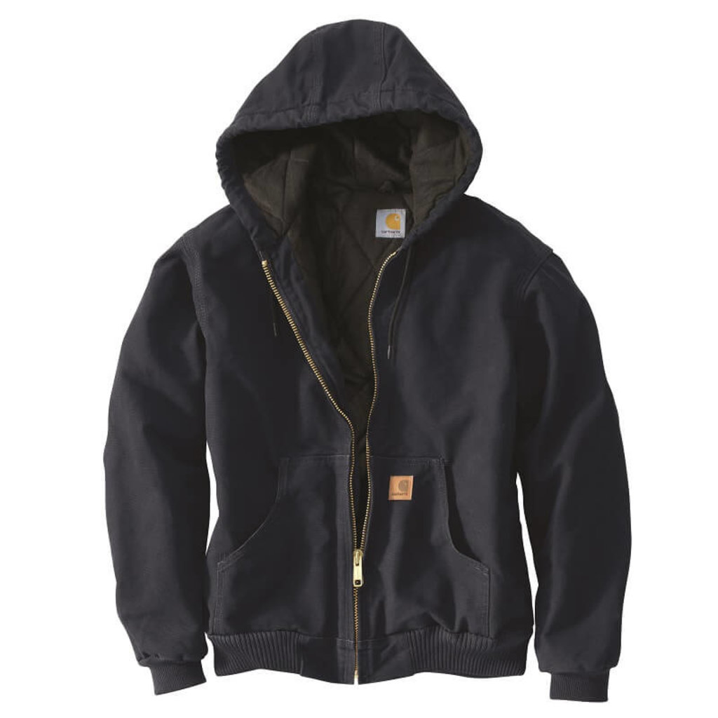Carhartt J130 - Sandstone Duck Active Jacket - Quilted Flannel Lined
