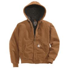 Carhartt WJ130 - Sandstone Active Jacket - Quilt Flannel Lined