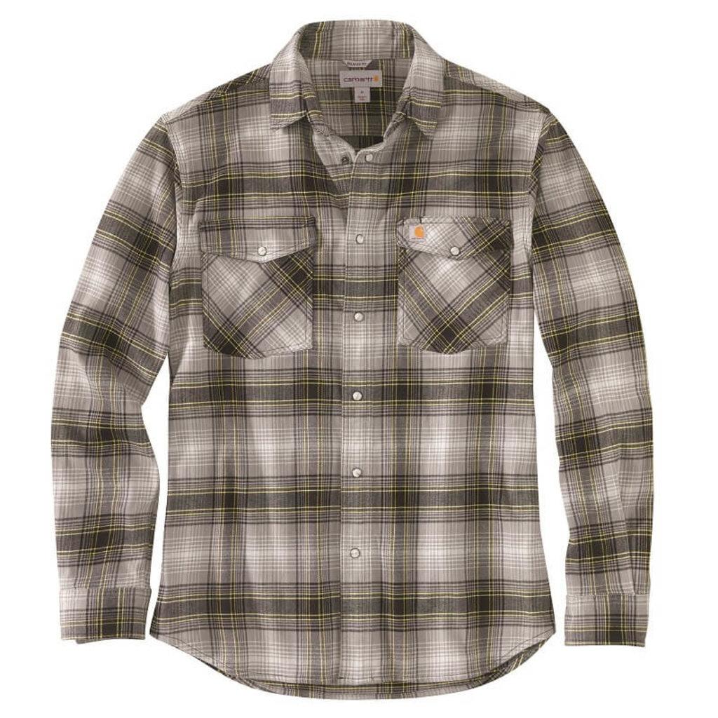 Carhartt 104449 - Rugged Flex Relaxed Fit Flannel Long-Sleeve Plaid Shirt