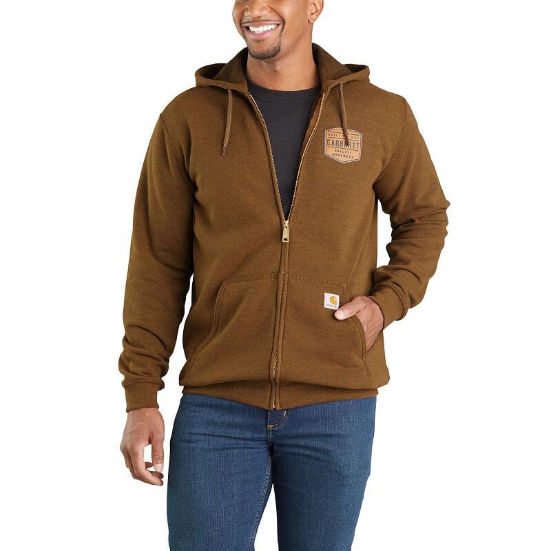 Carhartt 103868 - Midweight Chest Graphic Full-Zip Hooded Sweatshirt