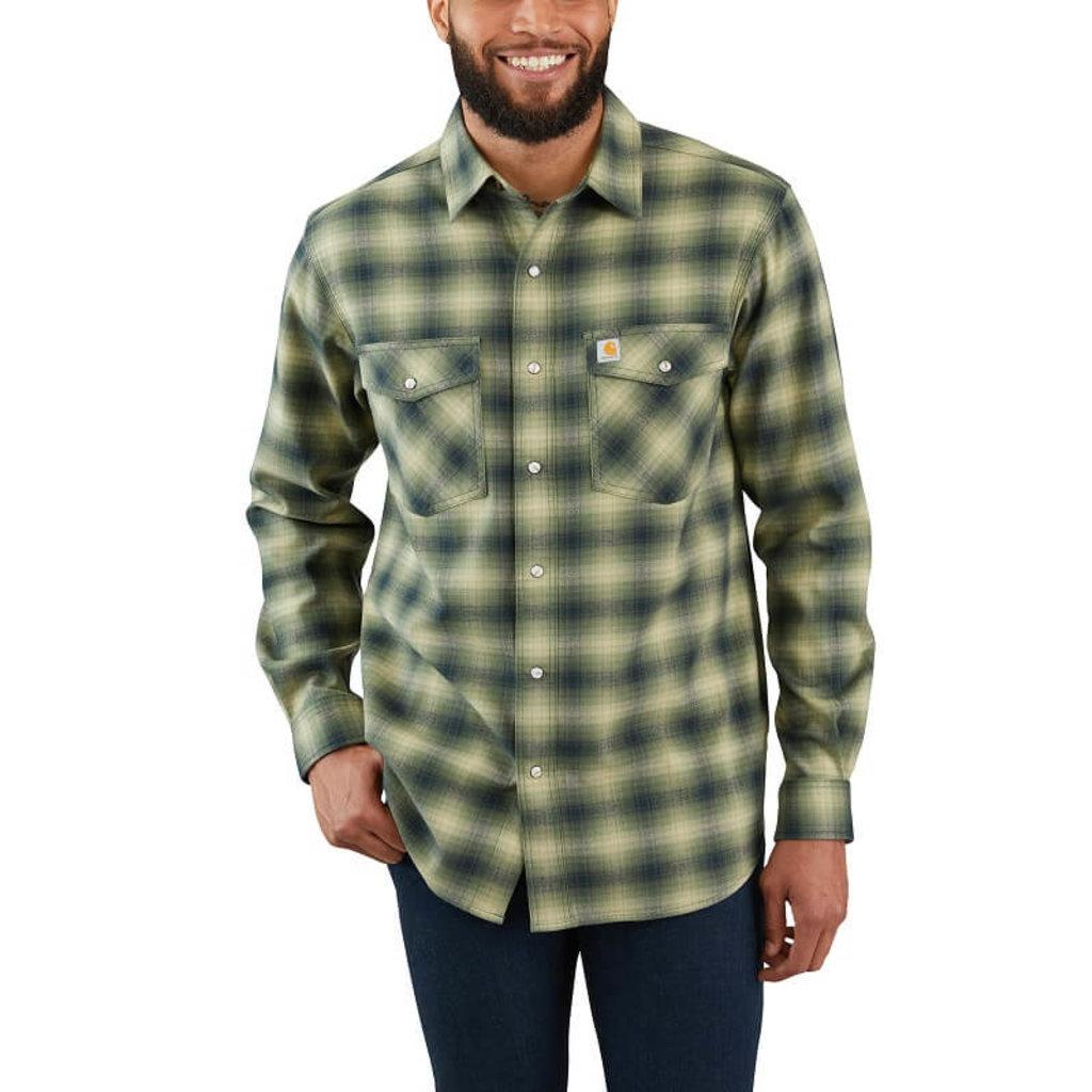 Carhartt 103855 - Rugged Flex Hamilton Snap-Front Plaid Long Sleeve Shirt