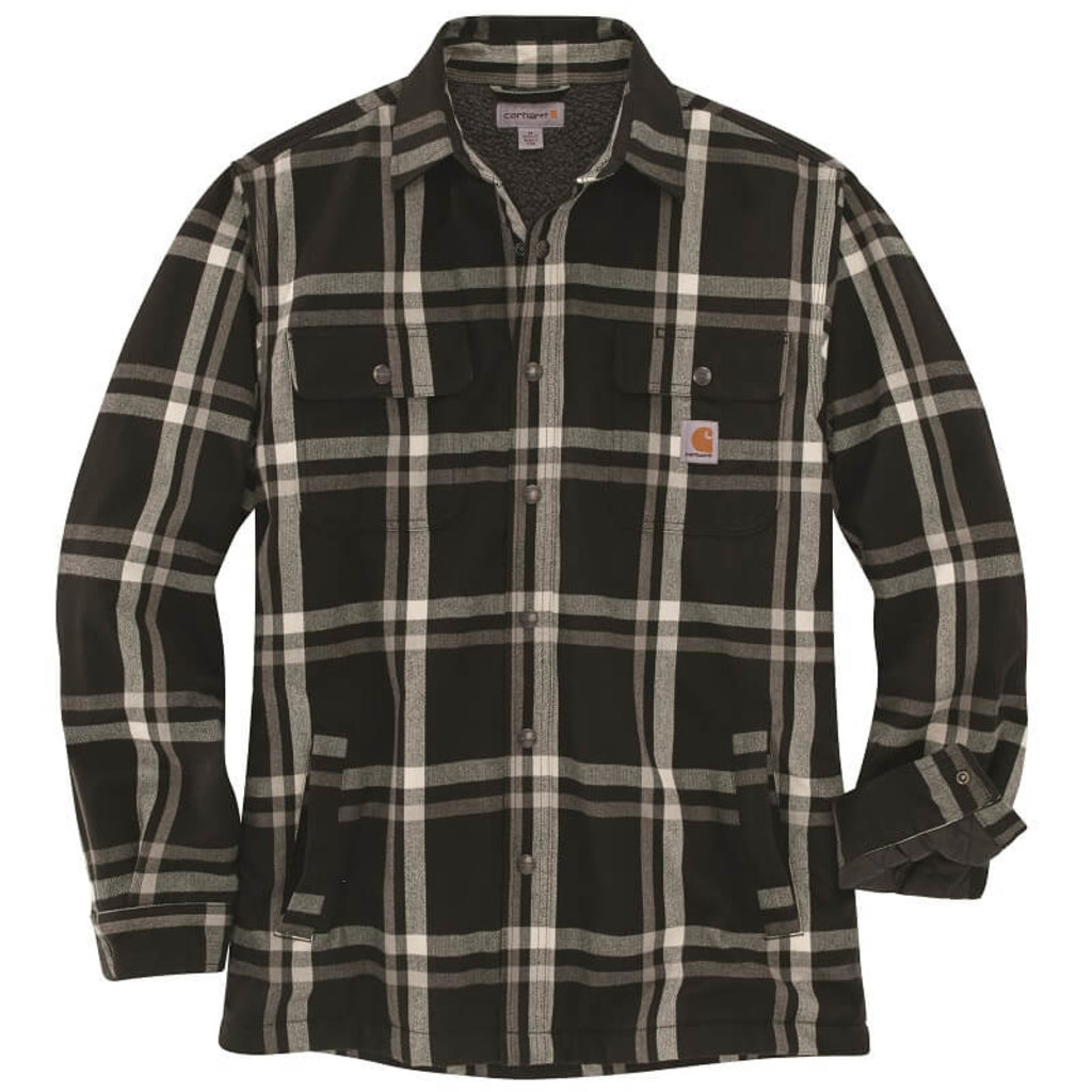 Carhartt 104452 - Relaxed Fit Flannel Sherpa Lined Plaid Shirt Jac