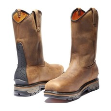 Timberland Pro True Grit Waterproof Composite-Toe Pull-On Boots