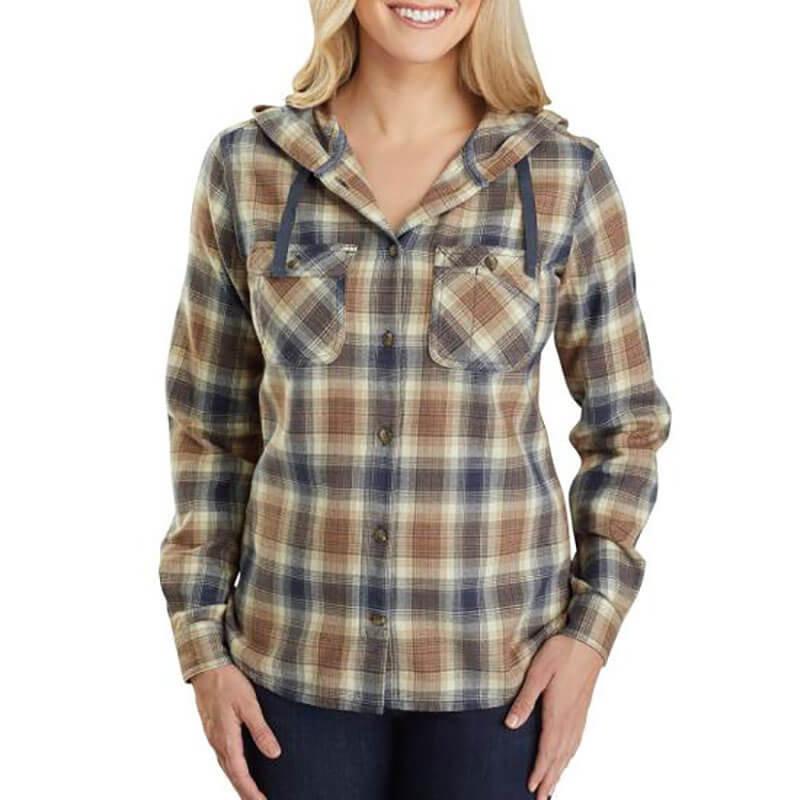 Carhartt 104517 - TW517 W Rlxd Fit Flnl Hdd Pld Shirt