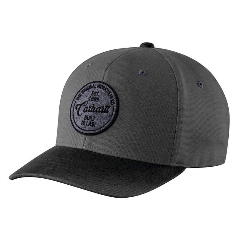 Carhartt 104489 - Rugged Flex Fitted Canvas Built to Last Graphic Cap