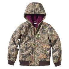 Carhartt CP9552 - Girls Camo Jacket with Sherpa Lining 4/5