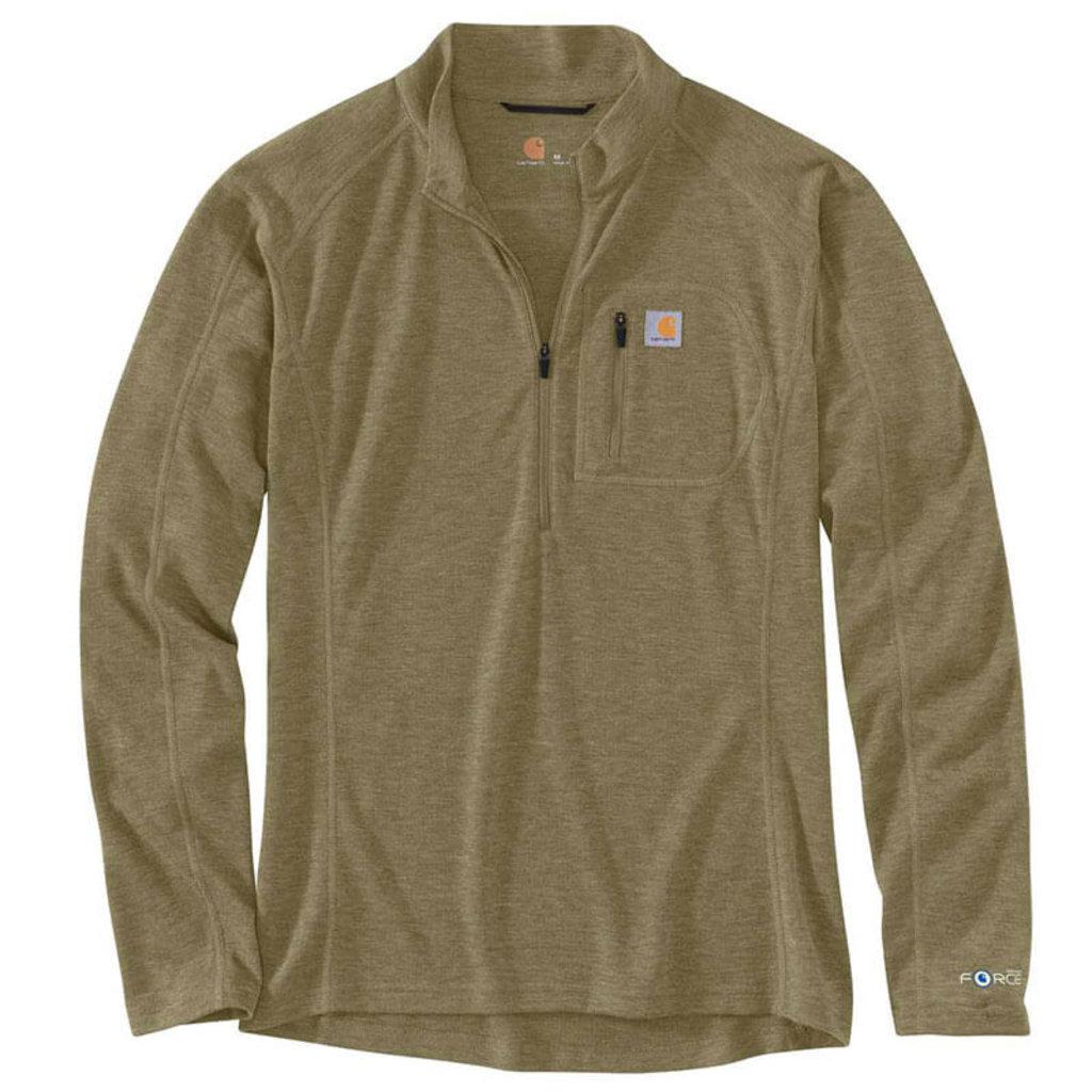 Carhartt MBL120 - FORCE® Heavyweight Synthetic-Wool Blend Base Layer Quarter-Zip Pocket Top