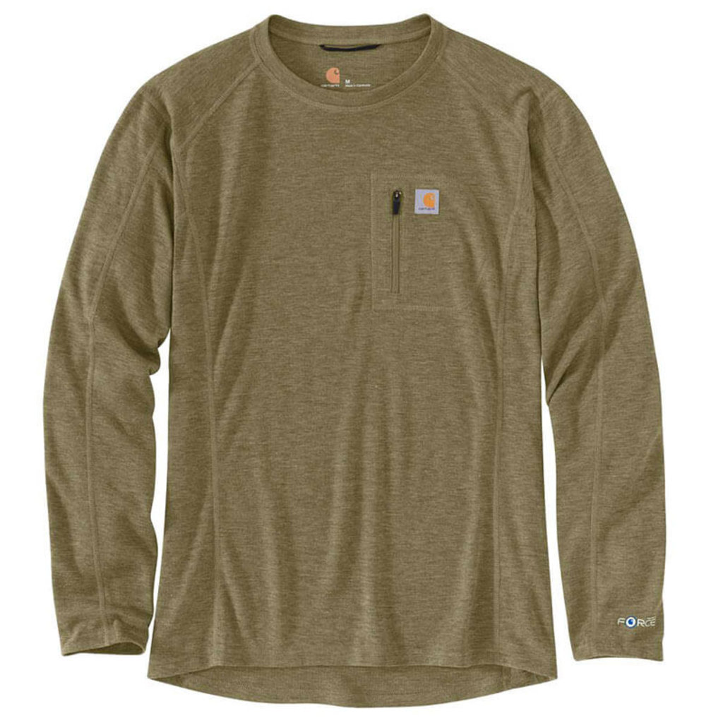 Carhartt MBL119 - FORCE® Heavyweight Synthetic-Wool Blend Base Layer Crewneck Pocket Top