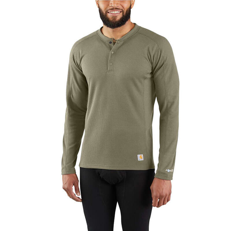 Carhartt MBL114 - FORCE® Midweight Waffle Base Layer Henley Top
