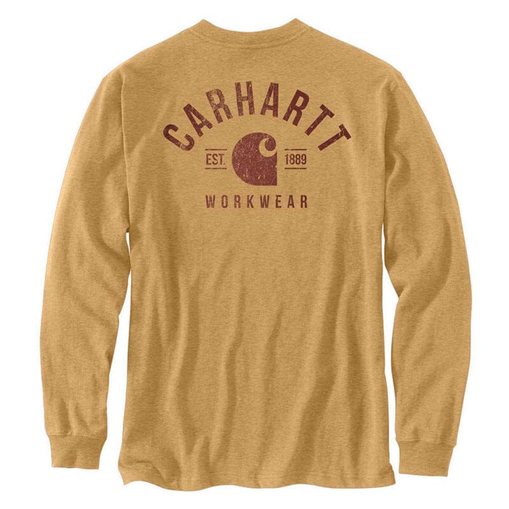 Carhartt Carhartt  Heavyweight Logo Graphic Long Sleeve Pocket T-Shirt-104434 - CLOSEOUT