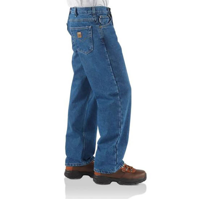 Carhartt Denim Relaxed Fit Jeans - Flannel Lined- B21 - CLOSEOUT