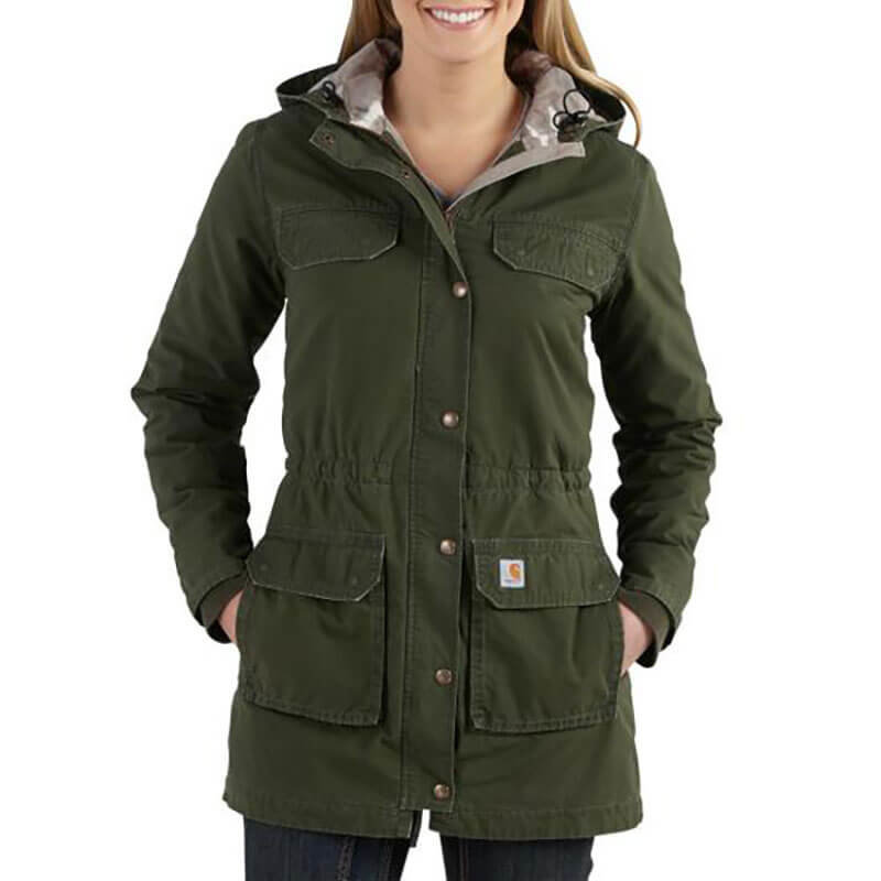 Carhartt Women's Fryeburg Coat - Quilted Flannel Lined- 102245 - CLOSEOUT