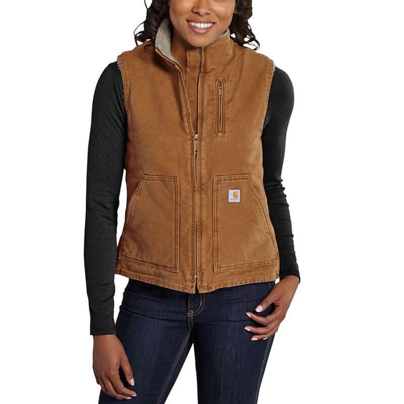 Carhartt Women's Sandstone Mock Neck Vest - WV001 - CLOSEOUT