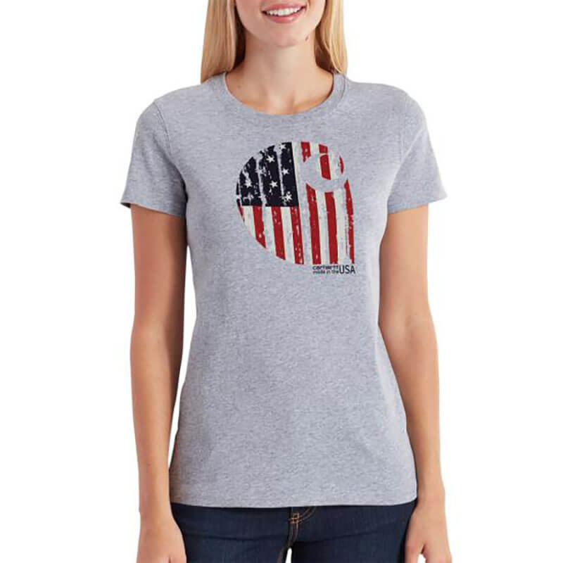 Carhartt Women's Lubbock Short Sleeve American Branded Graphic T-Shirt - 102605 - CLOSEOUT