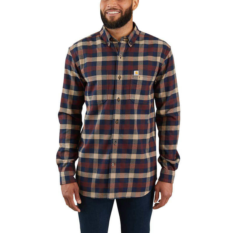 Carhartt Rugged Flex Hamilton Plaid Long Sleeve Shirt -  103820 - CLOSEOUT