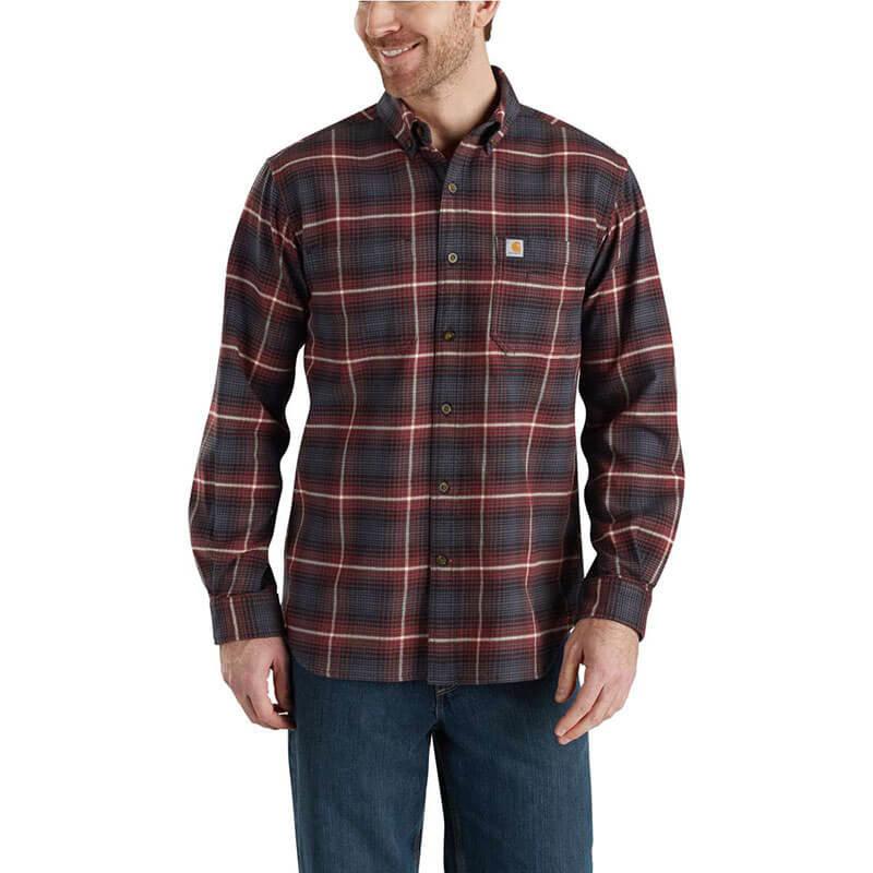Carhartt Men's Rugged Flex Hamilton Plaid Shirt - 103314 - CLOSEOUT