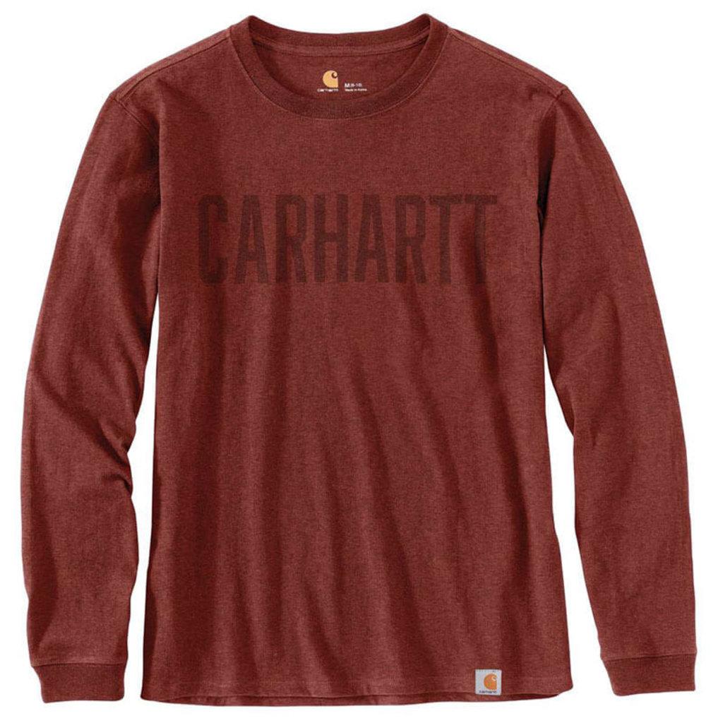 Carhartt Workwear Block Logo Graphic Long Sleeve T-Shirt - 103841
