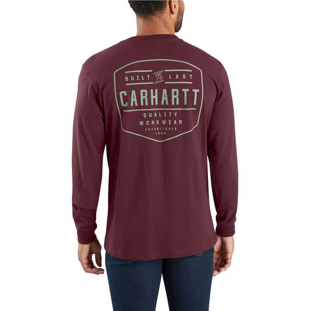 Carhartt Carhartt Men's Workwear Built By Hand Graphic Long-Sleeve Pocket T-Shirt -103840- CLOSEOUT