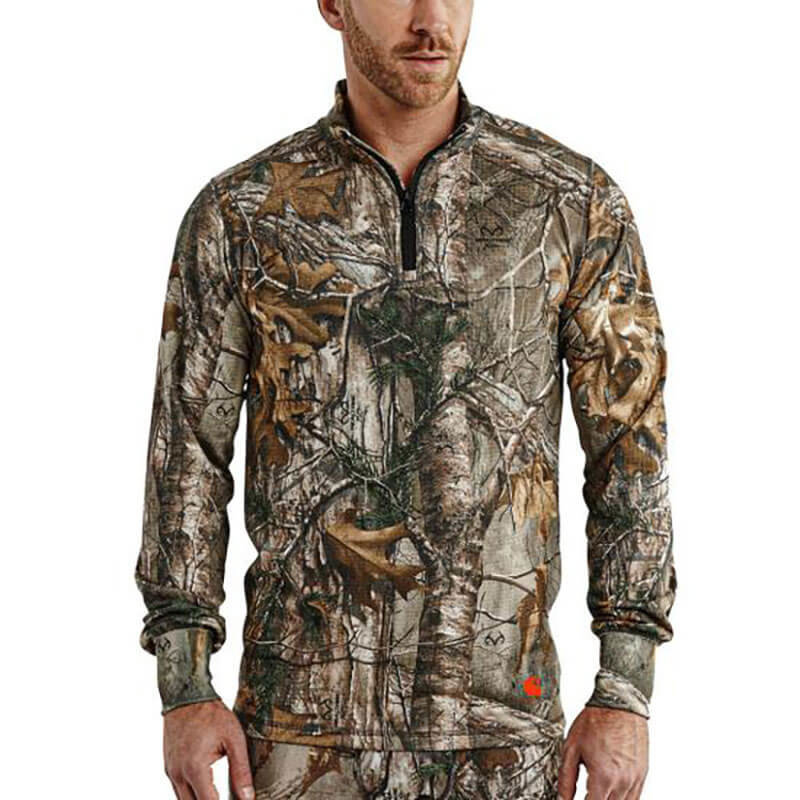 Carhartt Men's Base Force Extremes Cold Weather Camo Quarter Zip 102224