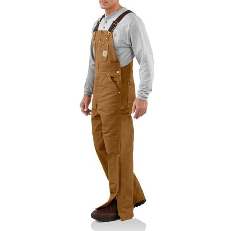 Carhartt Duck Bib Overall - Quilt Lined R02 - CLOSEOUT