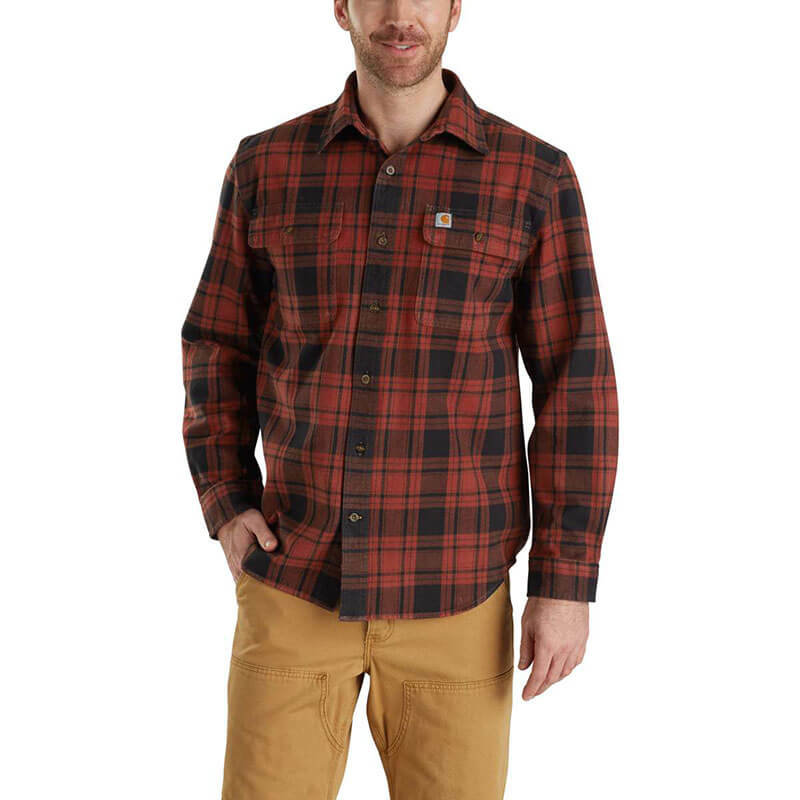 Carhartt 103348 - Hubbard Plaid Long Sleeve Shirt- CLOSEOUT