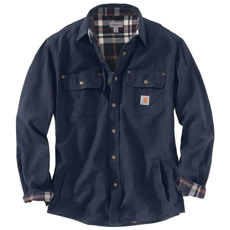 Carhartt 100590 - Weathered Canvas Long Sleeve Shirt Jac - 100590 - CLOSEOUT