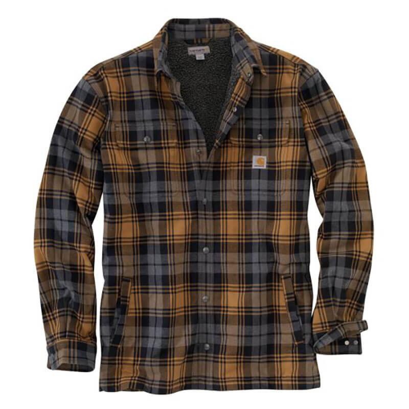Carhartt Hubbard Sherpa Lined Plaid Long Sleeve Shirt Jac - 101752 -CLOSEOUT