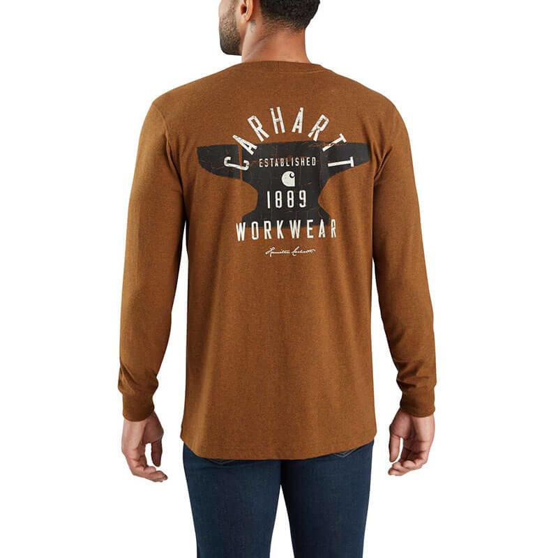 Carhartt Carhartt  Workwear Hamilton Signature Graphic Long Sleeve T-Shirt -103843 -CLOSEOUT