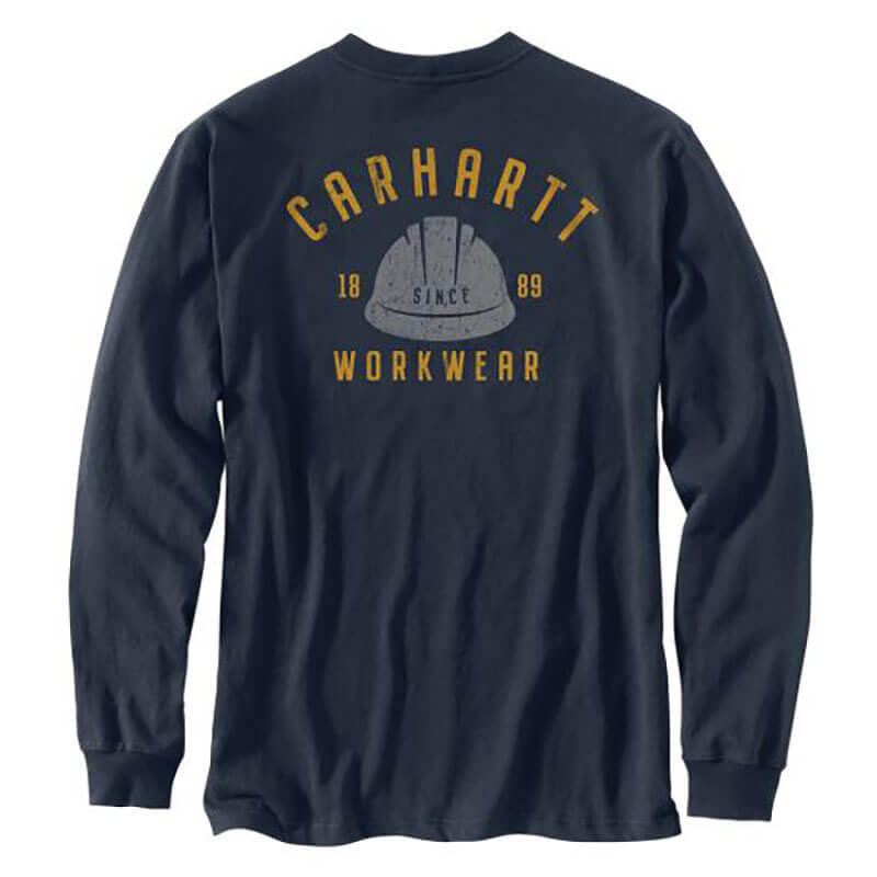 Carhartt Men's Relaxed Fit Midweight Long Sleeve Logo Graphic T-Shirt -104535 - CLOSEOUT