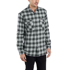 Carhartt Rugged Flex Hamilton Snap-Front Plaid Long Sleeve Shirt 103855 - CLOSEOUT