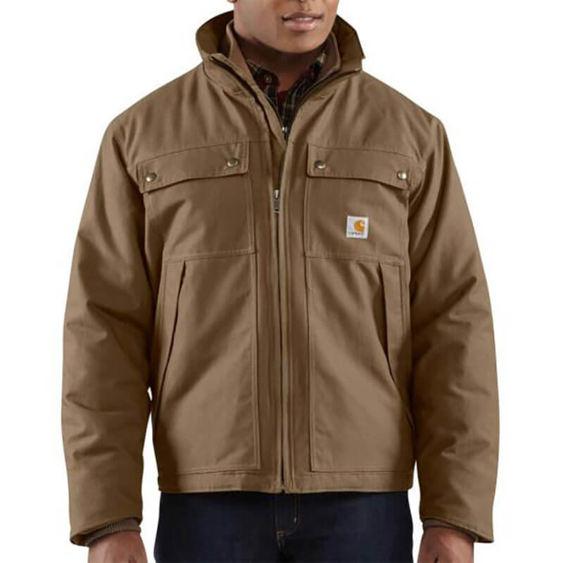 Carhartt Woodward Quick Duck® Traditional Jacket - Quilt Lined 100107 - CLOSEOUT