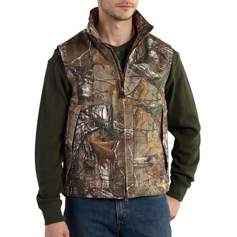 Carhartt Quick Duck® Camo Vest  Quilt Lined 101686 - CLOSEOUT