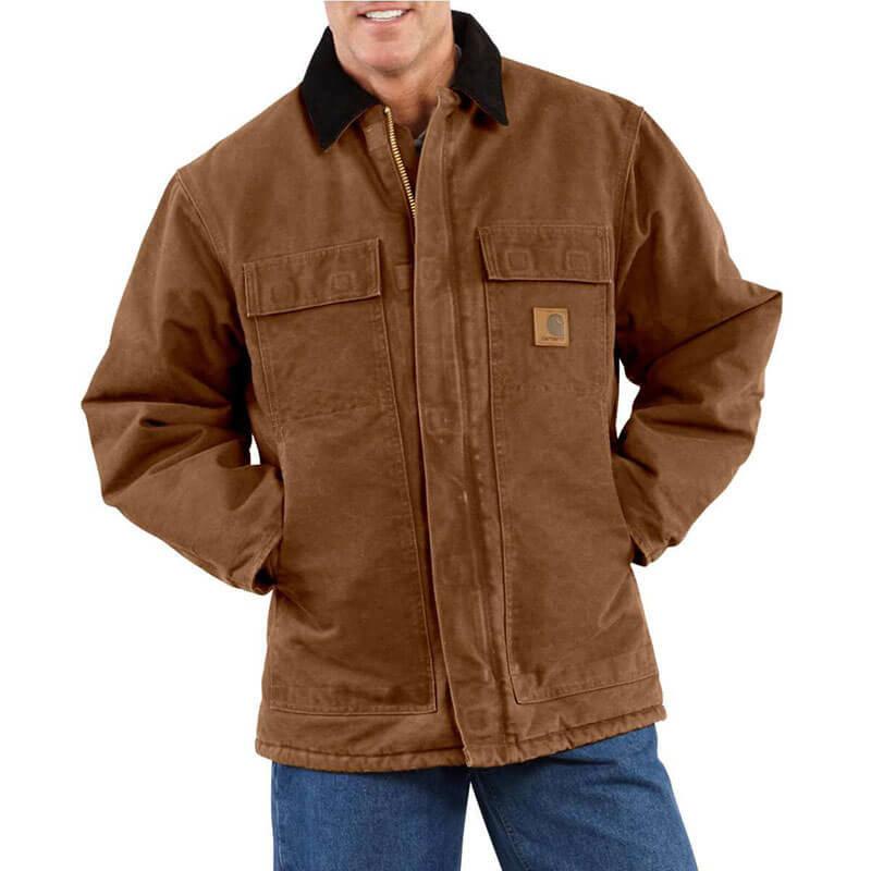 Carhartt Men's Sandstone Traditional Coat- C26 -CLOSEOUT