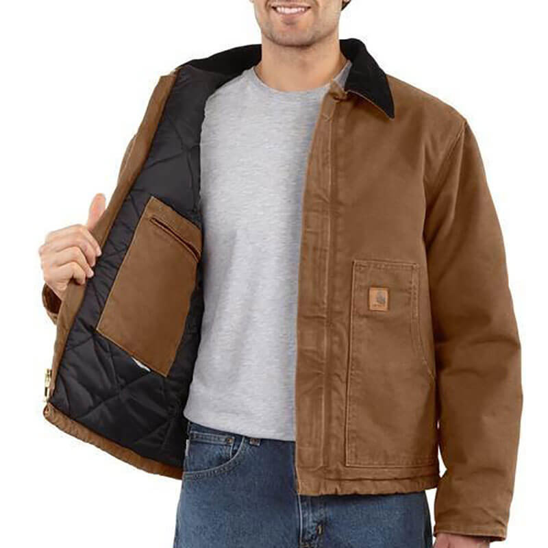 Carhartt Sandstone Arctic Quilt Lined Moss Duck Jacket - j22 - CLOSEOUT