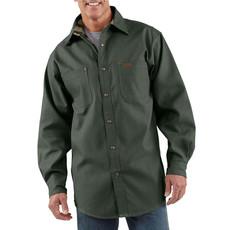 Carhartt Carhartt  Flannel Lined Canvas Shirt Jacket - S296 - CLOSEOUT