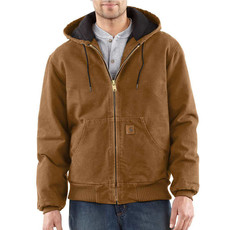 Carhartt J130 - Sandstone Duck Active Jacket - Quilted Flannel Lined - CLOSEOUT