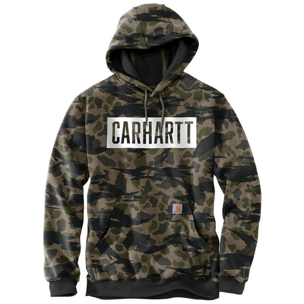 Carhartt 105061 - Loose Fit Midweight Hooded Camo Sweatshirt