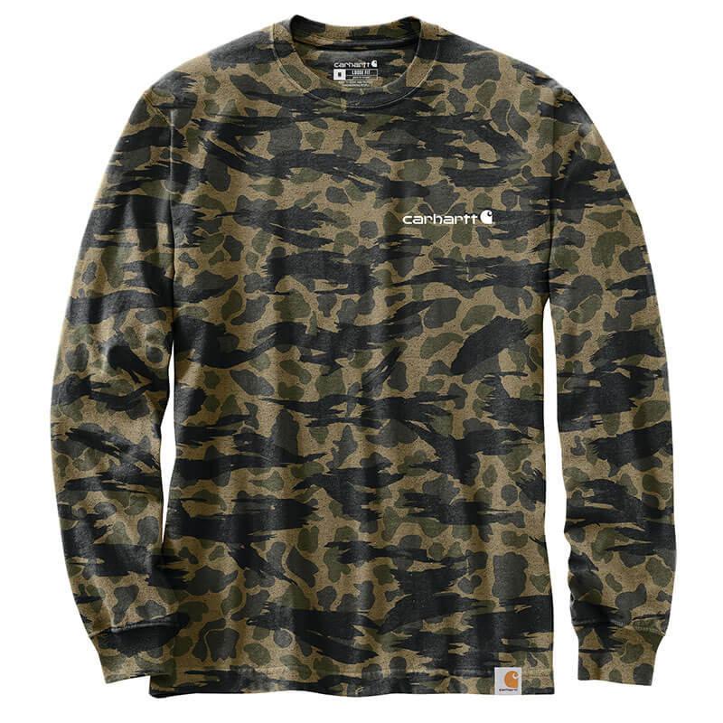 Carhartt 105042 - Relaxed Fit Heavyweight Long-Sleeve Logo Graphic T-Shirt