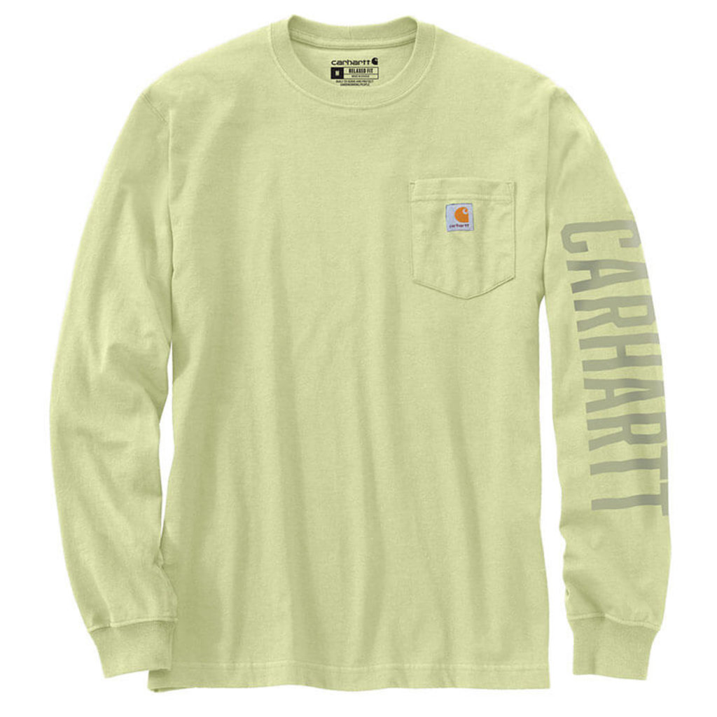 Carhartt 105041 - Relaxed Fit Heavyweight Long-Sleeve Logo Graphic T-Shirt