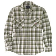 Carhartt 104914 - Rugged Flex Relaxed Fit Midweight Long-Sleeve Snap-Front Plaid Shirt