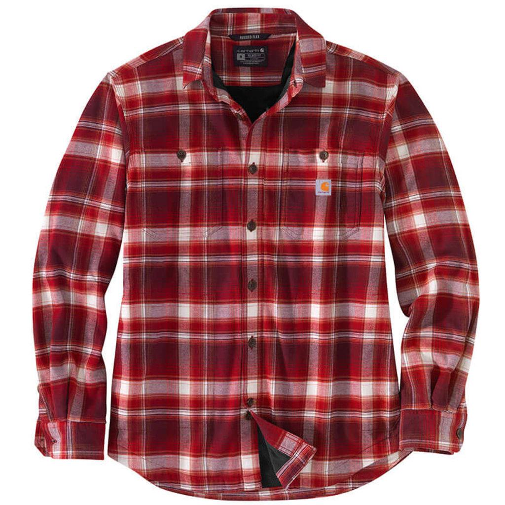 Carhartt 104913 - Rugged Flex Relaxed Fit Midweight Flannel Fleece-Lined Shirt